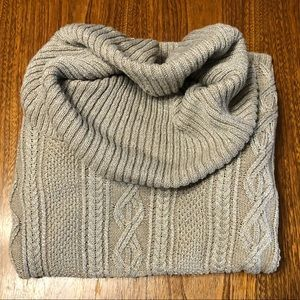 Tan shimmery cowl neck sweater by Belldini